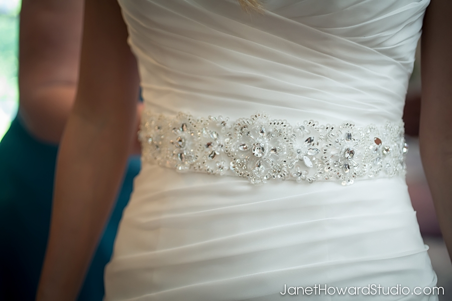 Bride's Gown Detail