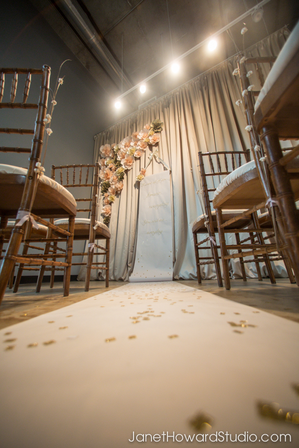 Aisle runner/ backdrop scroll