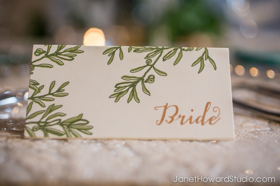 Bride placecards by Julia's Poppies