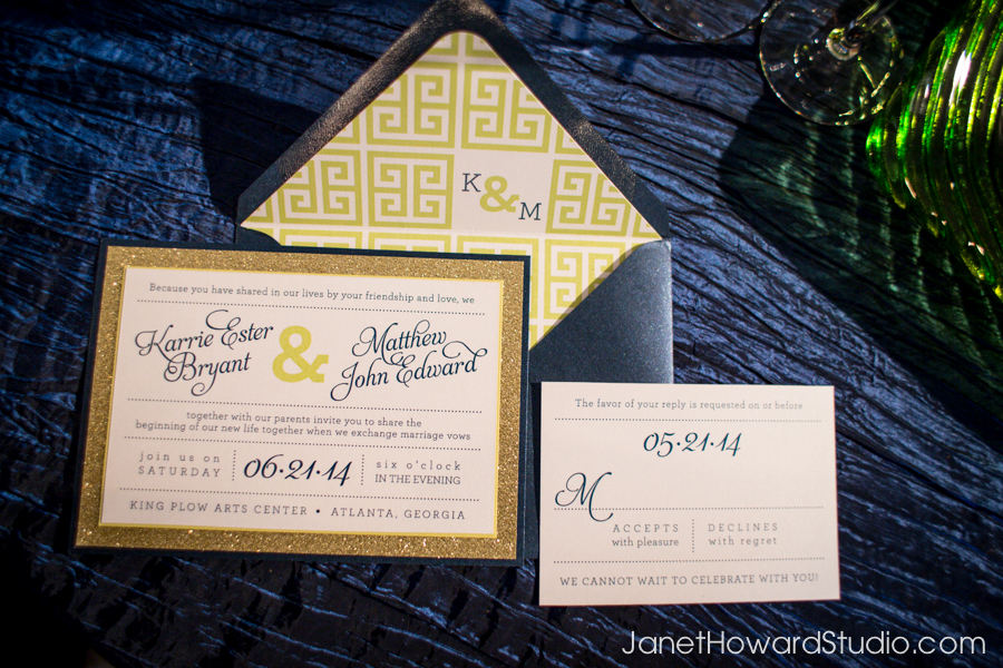 Modern Blue and Green Stationery Suite by yourhinote.com
