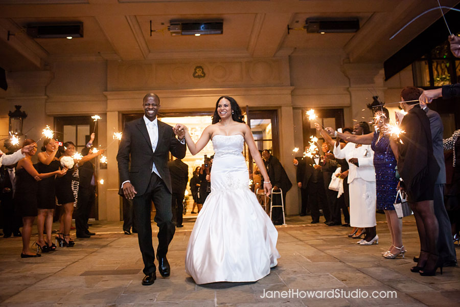 Bride and Groom exit from The St. Regis Atlanta