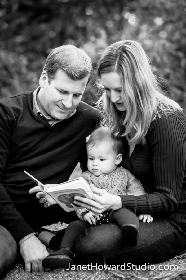Atlanta Family Portraits with books