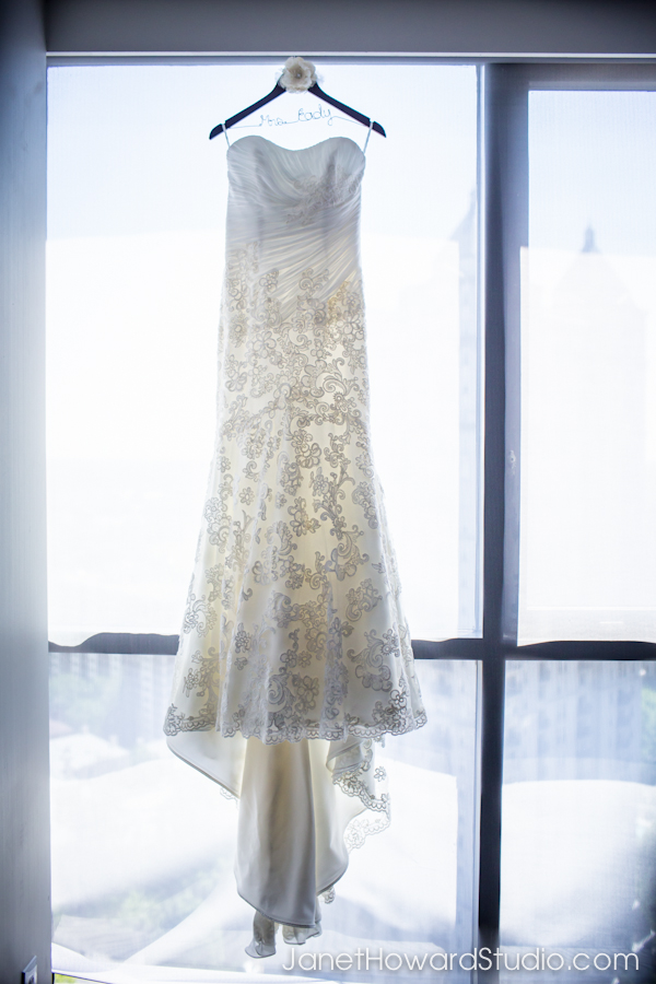 Bride's gown at W Atlanta Midtown
