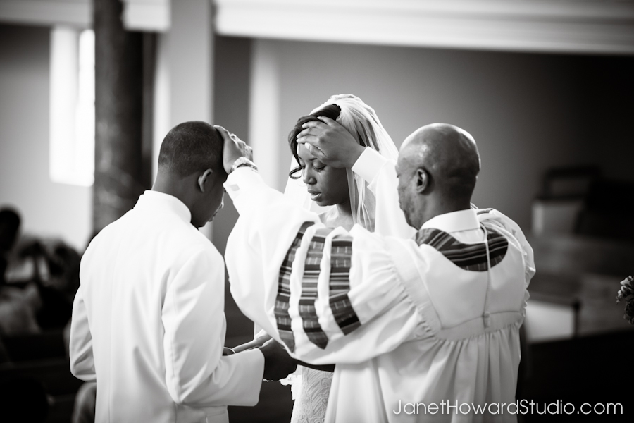 Wedding ceremony at West Hunter Street Baptist Church