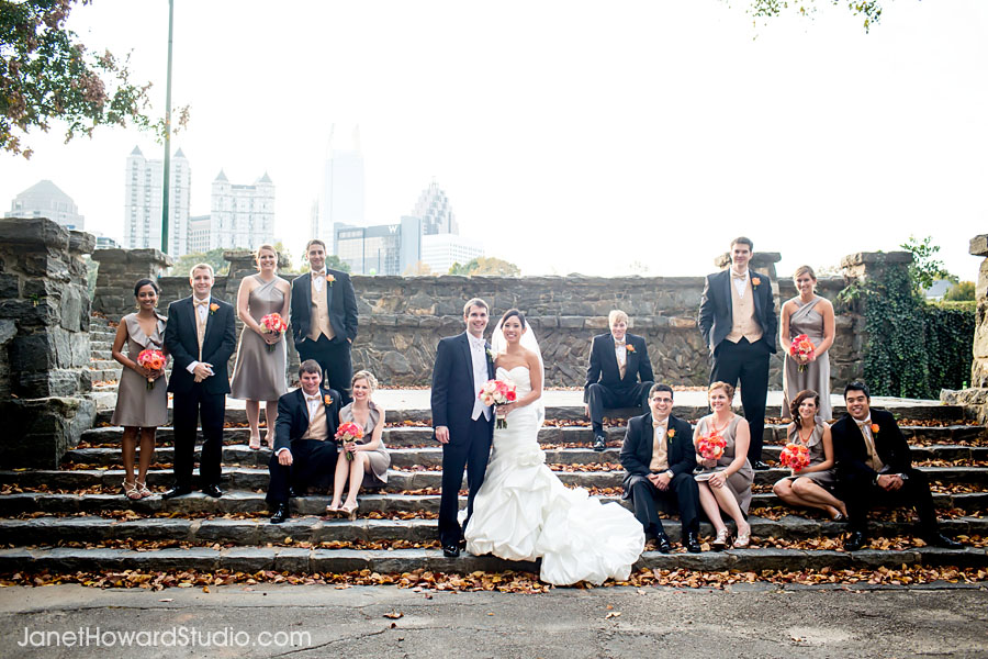 Wedding party at Piedmont Park