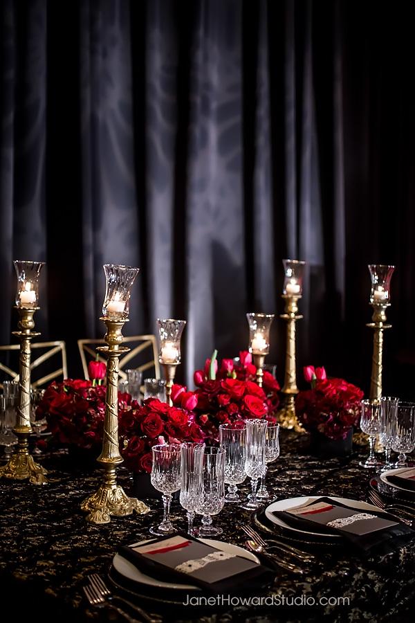 Valentino Inspired Wedding tablescape