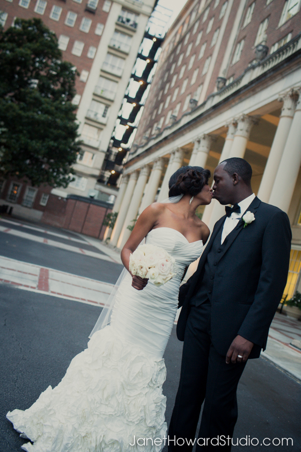 Bride and groom at the Biltmore Atlanta