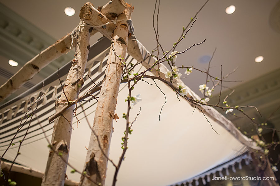 Wedding chuppah by Bloomin' Bouquets