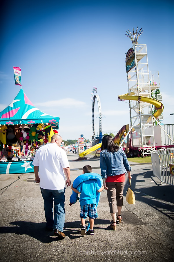 Atlanta Family Portraits at the Fair