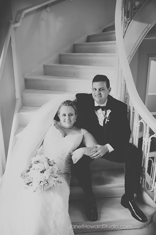 Bride and groom at Georgian Terrace Atlanta