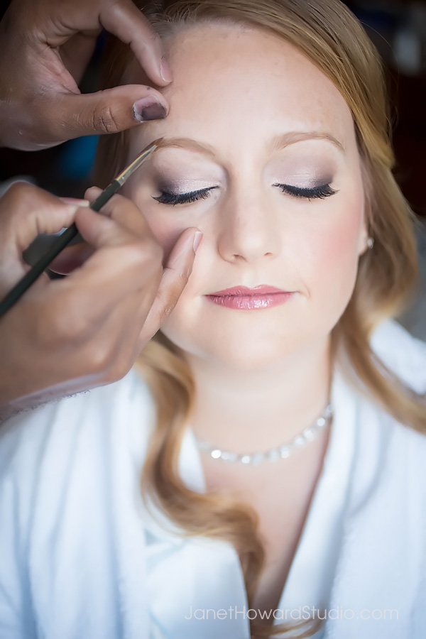 Bride hair and makeup by Scoobie West