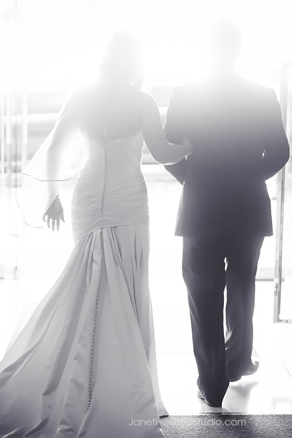 Bride and Groom at Renaissance Midtown Atlanta