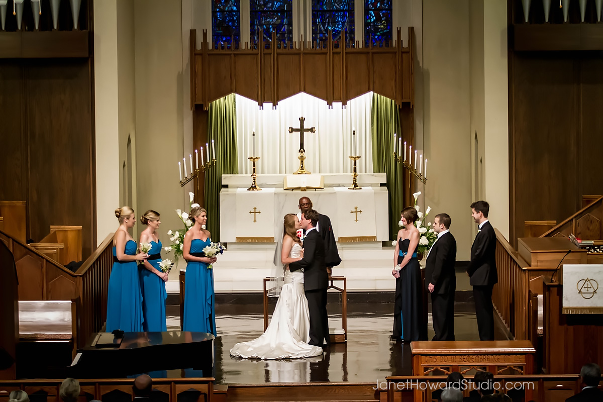 Wedding ceremony at St. James United Methodist Church