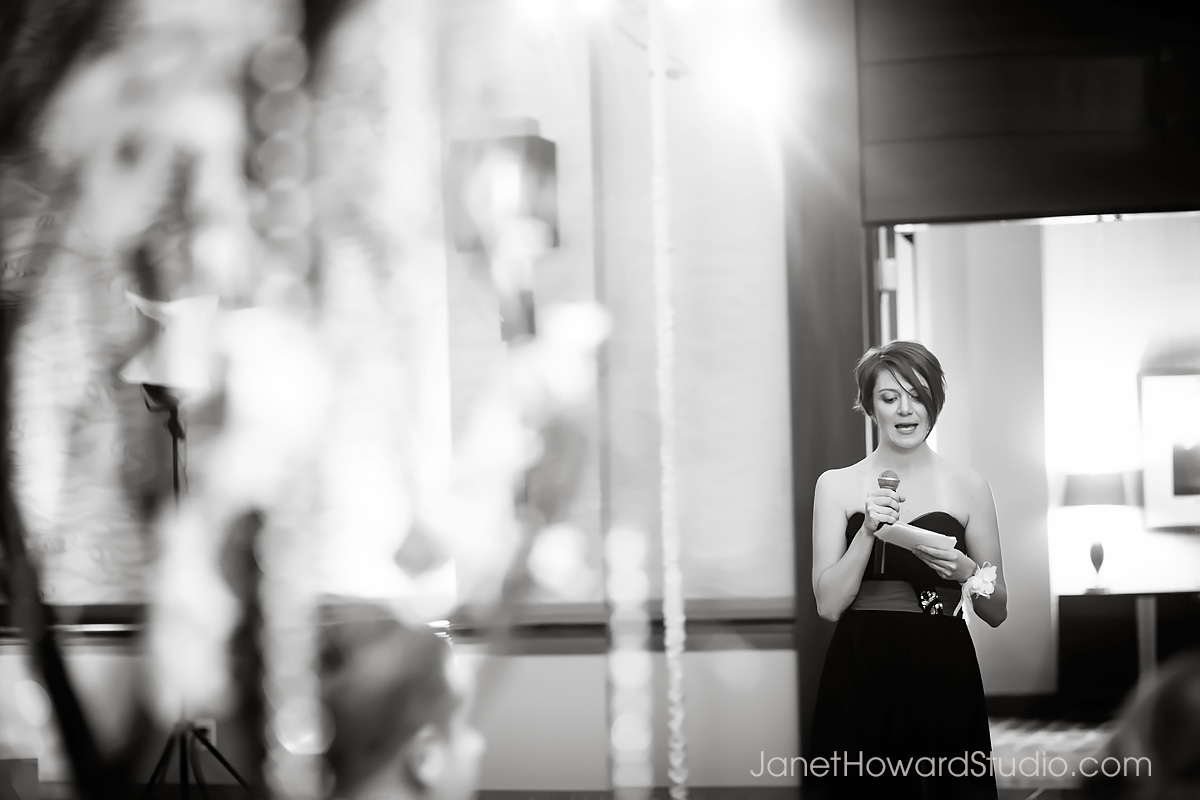 Wedding reception toasts at Renaissance Midtown Atlanta