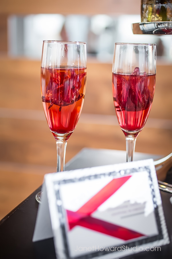 Hibiscus champagne cocktail by Lyght House Cocktails