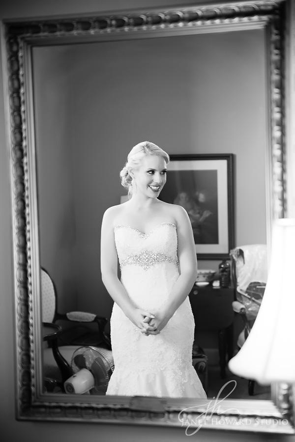 Bride getting ready at First Presbyterian Marietta