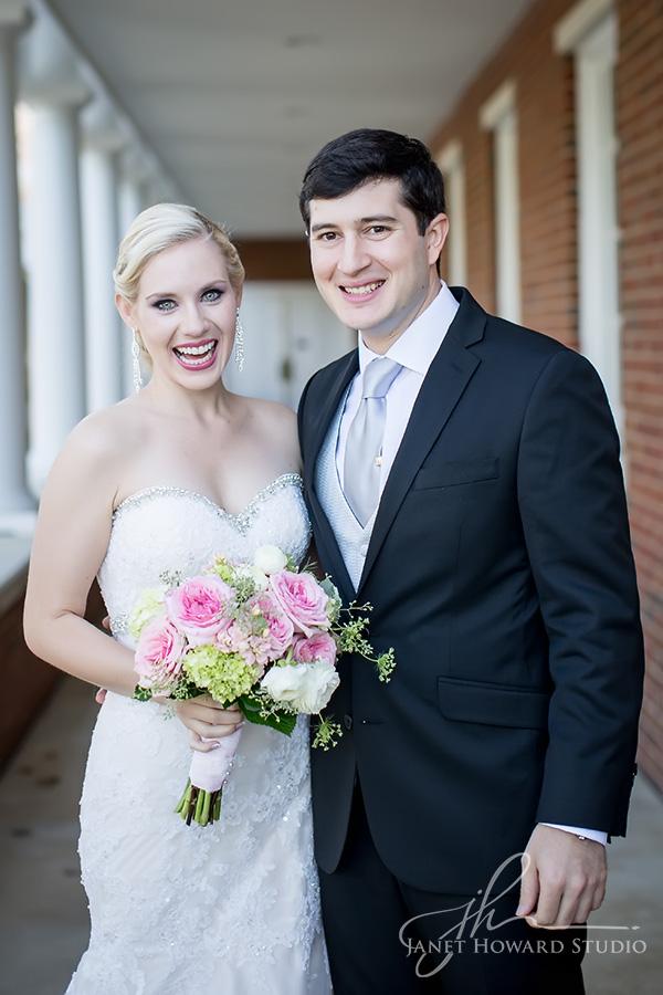 Bride and Groom at First Presbyterian Marietta