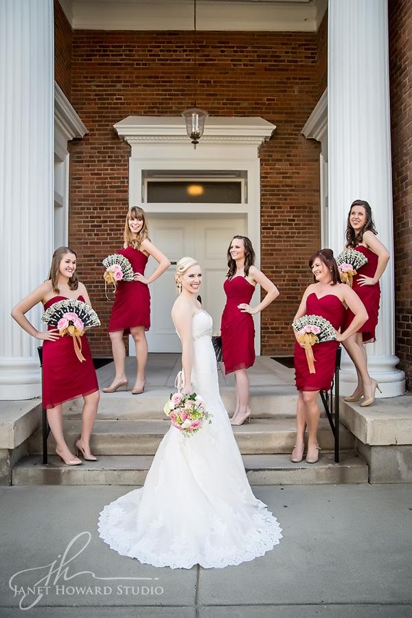 Bridesmaids at First Presbyterian Marietta