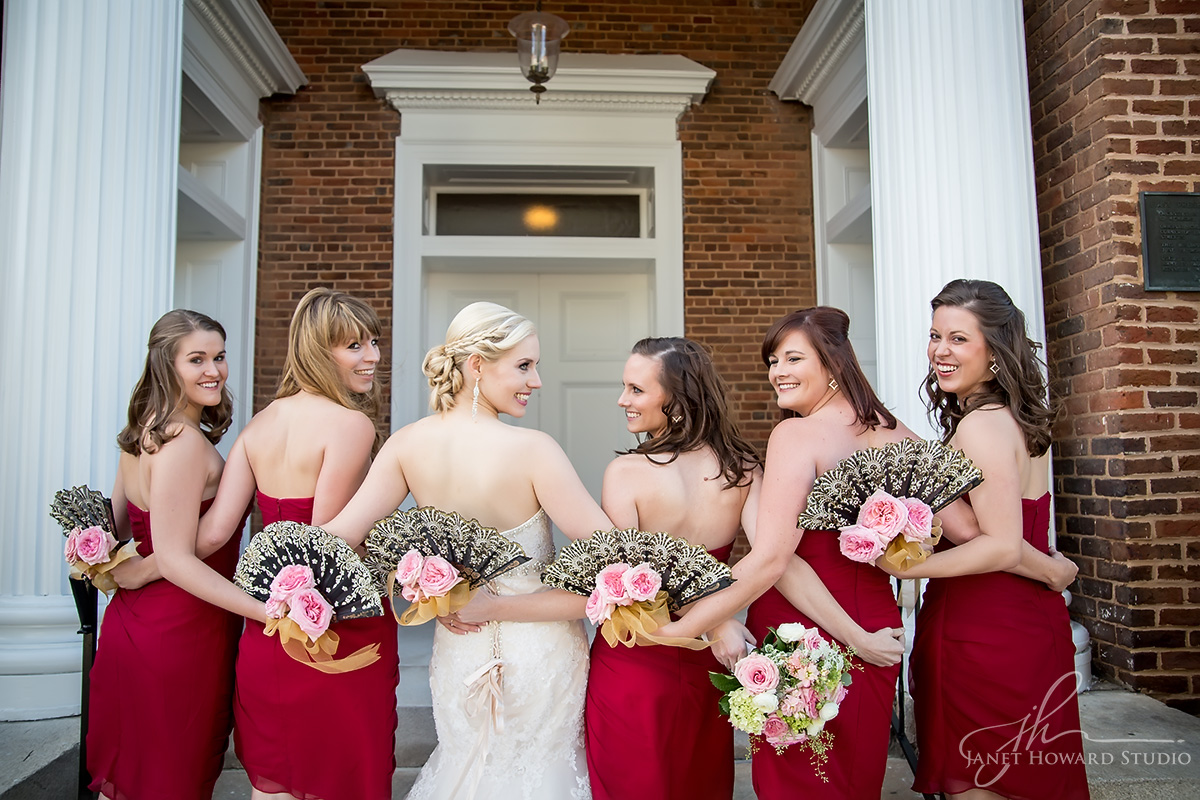 Bridesmaids at First Presbyterian Marietta