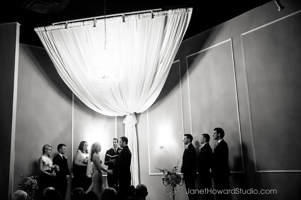 Wedding ceremony at Le Bam Studio in Atlanta