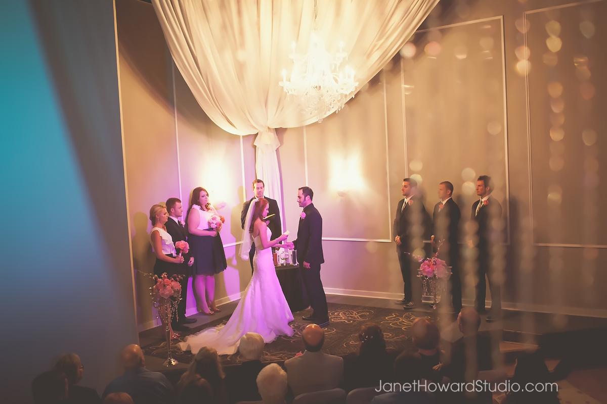 wedding ceremony at Le Bam in Atlanta