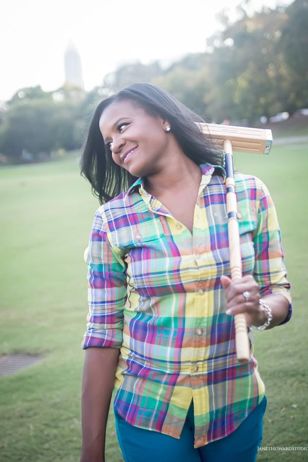 Piedmont Park croquet engagement session