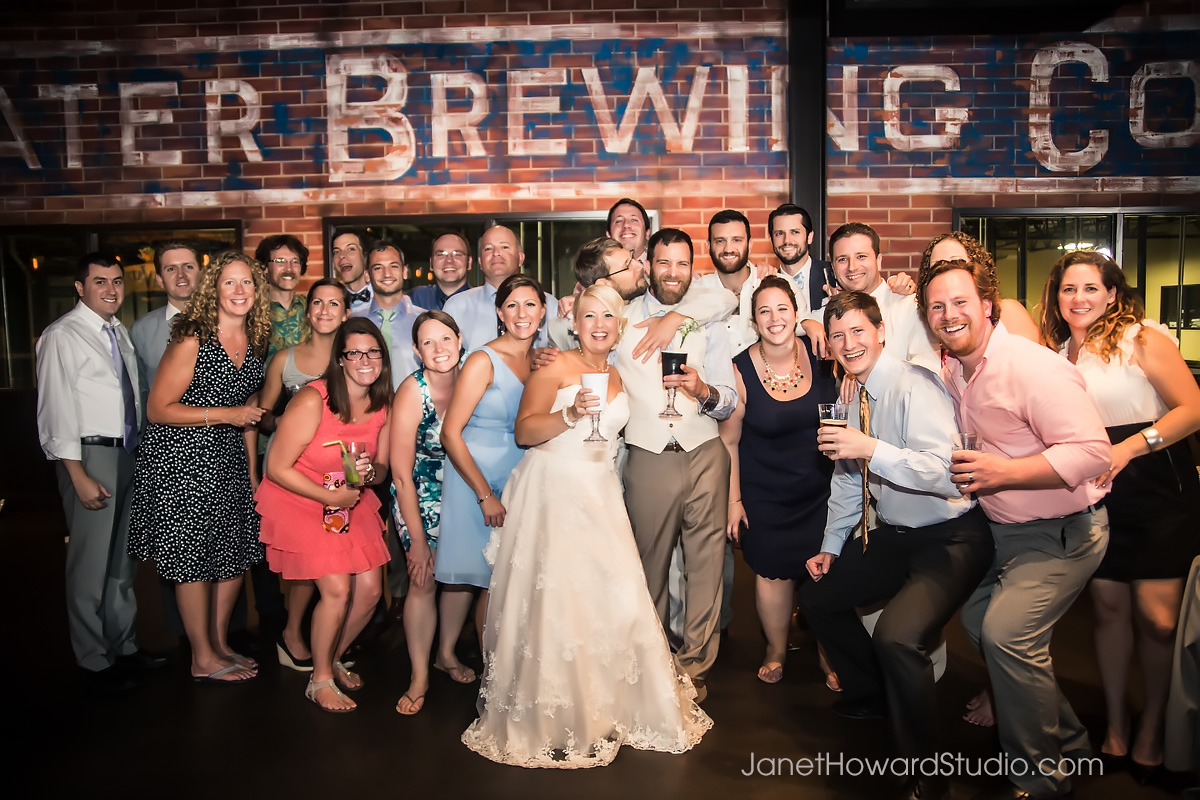 Wedding reception at Sweetwater Brewery