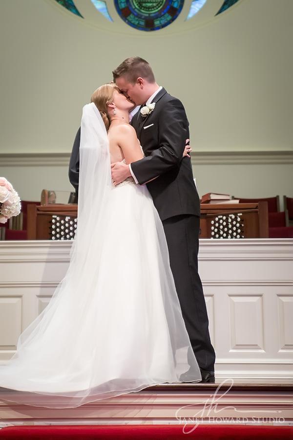 Wedding ceremony at Westminster Presbyterian