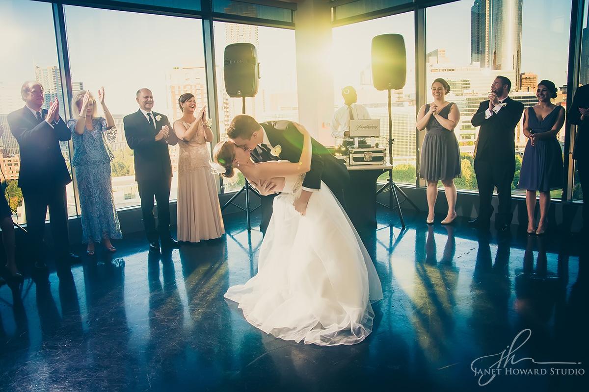 First dance Wedding reception at Ventanas