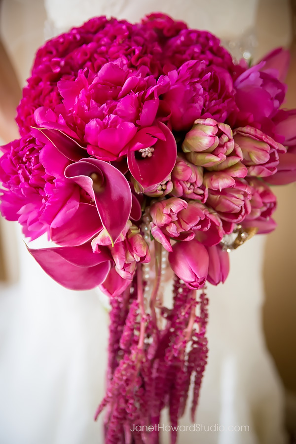 fuchsia bridal bouquet