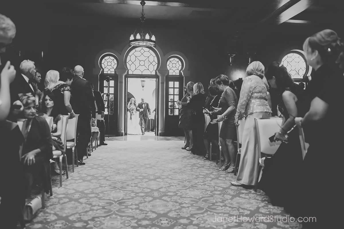 Fox Theater wedding ceremony