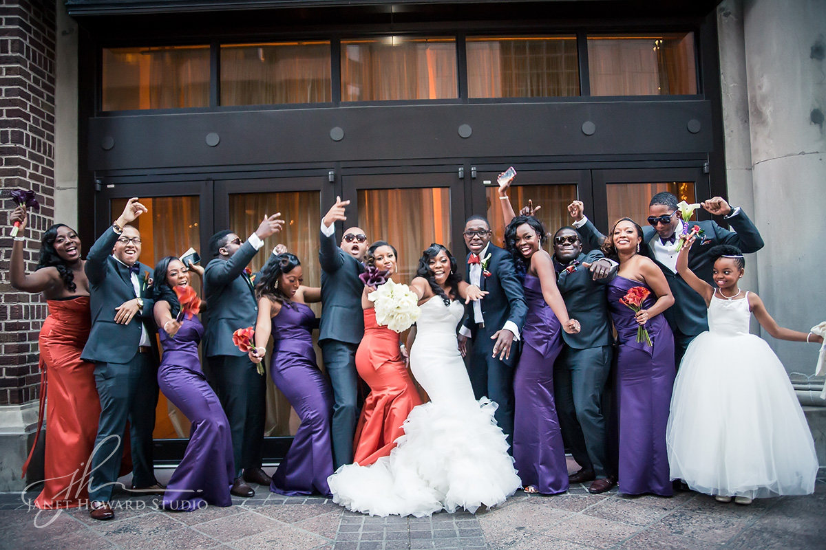 Bridal party at 200 Peachtree