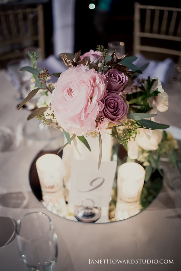 Wedding Reception florals by Blooming Bouquets
