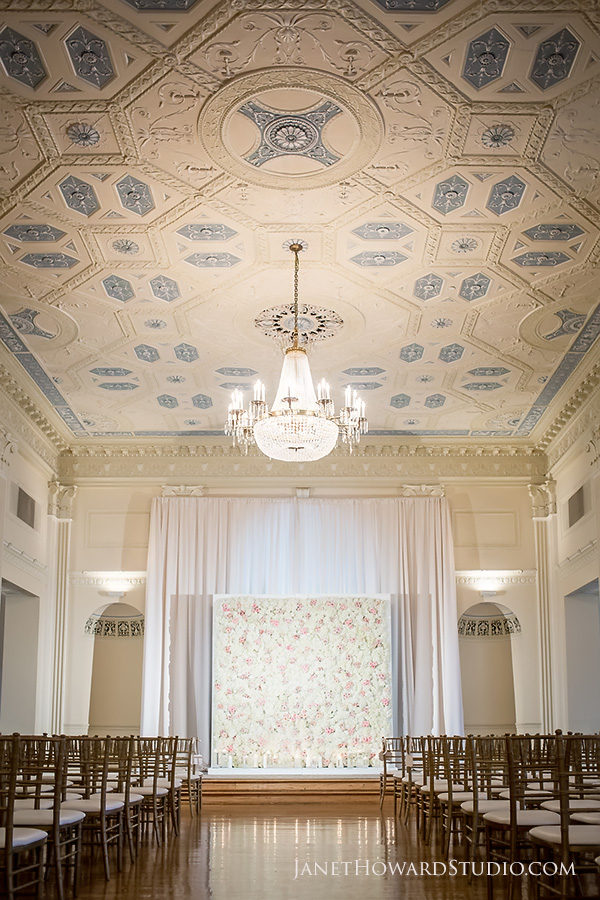 Biltmore Ballrooms wedding ceremony with florals by My Floral Bliss