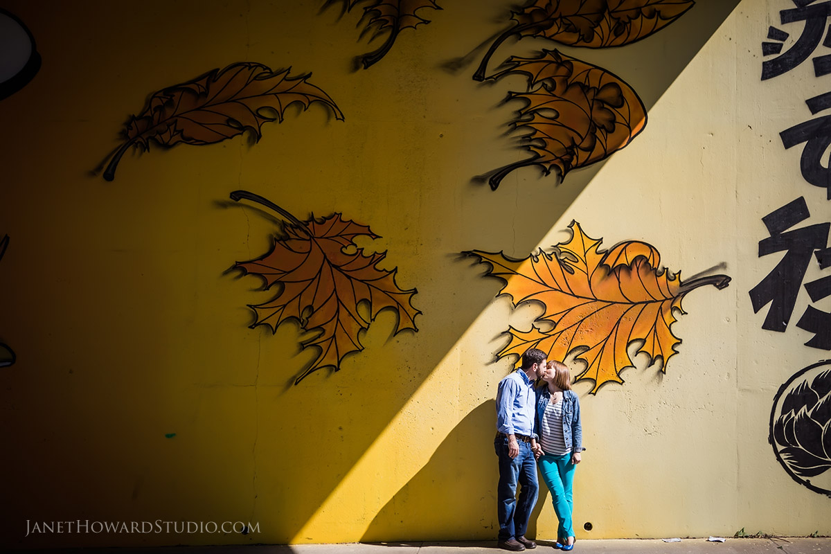 Engagement session at Historic 4th Ward Park