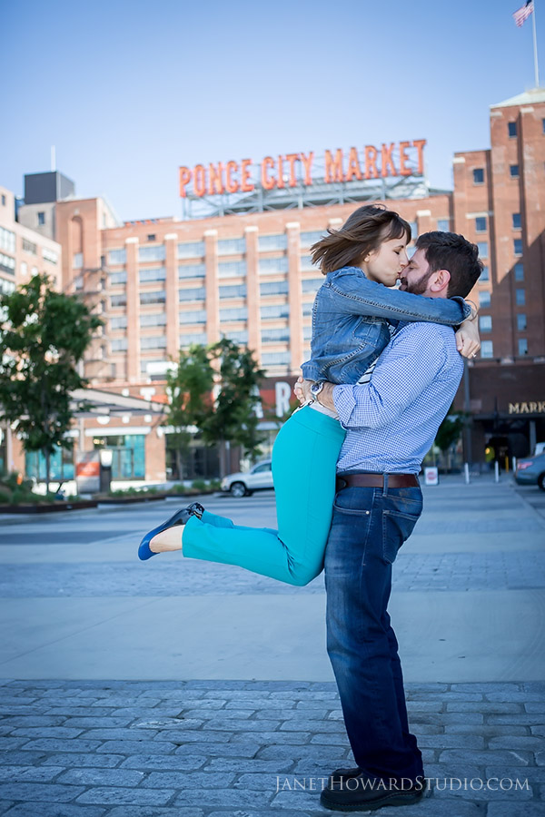 Engagement photos at Ponce City Market