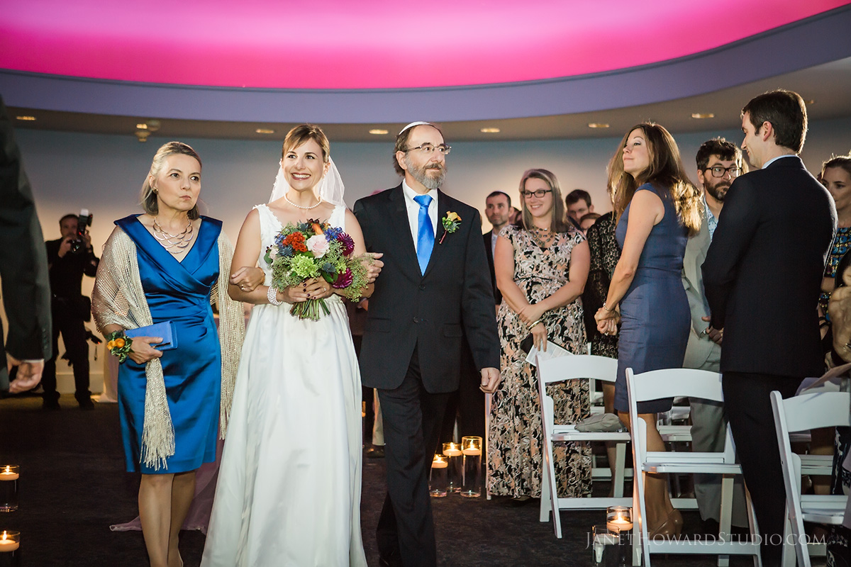 Wedding ceremony in Star Gallery at Fernbank