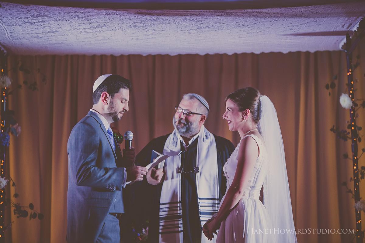 Wedding ceremony in Star Gallery at Fernbank