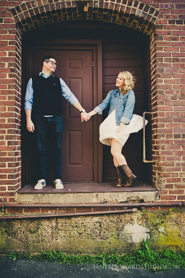 Marietta Square engagement session