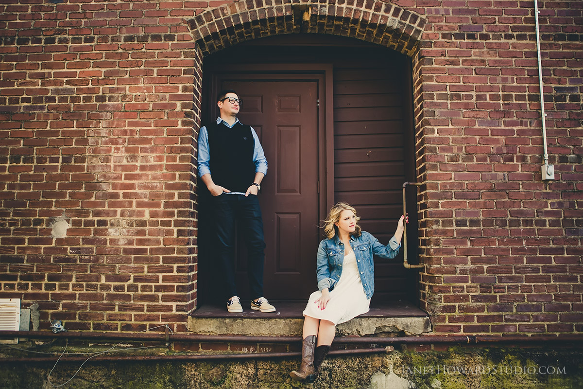 Marietta Square Engagement Photos