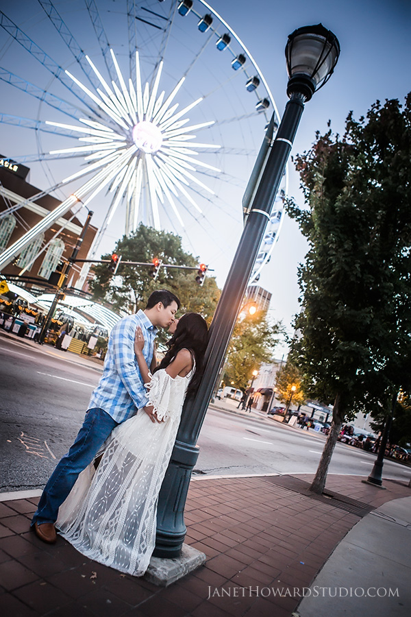 Centennial Park engagement photos
