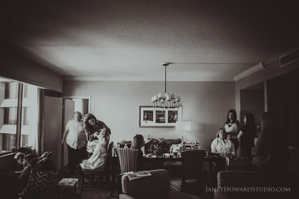 bride preparation at hotel