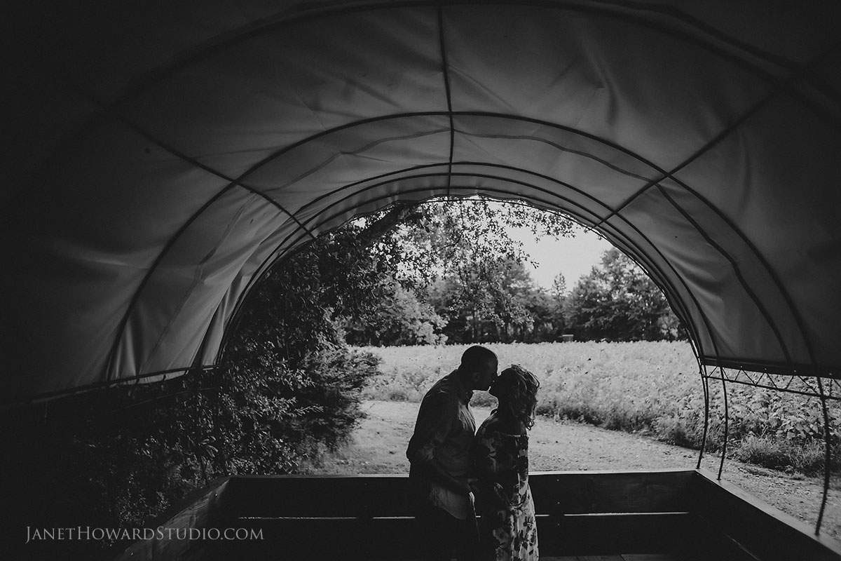 Engagement photos at Copper Creek Farm