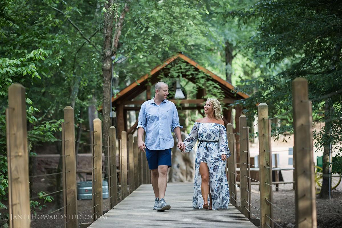 Engagement photos at Copper Creek Farms