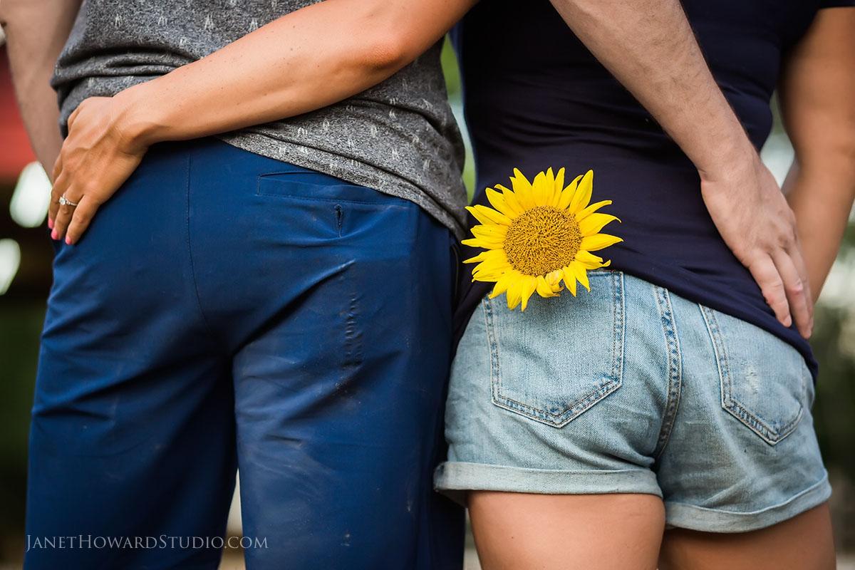 Sunflower Farm engagement photos