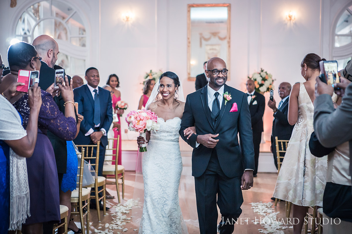 Wimbish House wedding ceremony