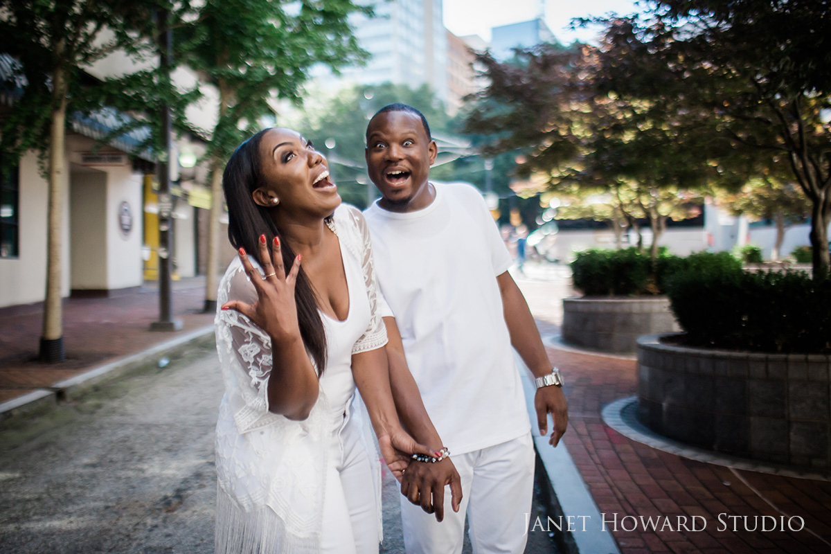 Downtown Atlanta engagement photos