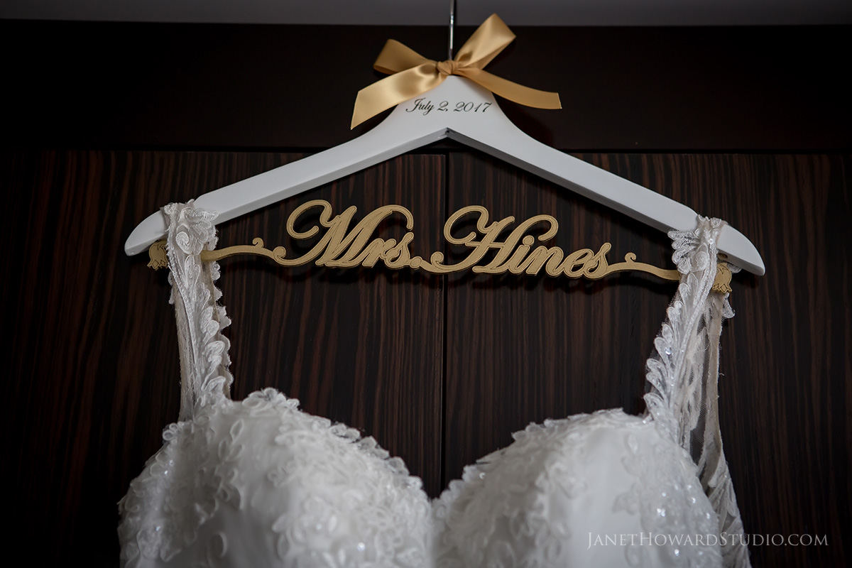 Custom wedding hanger