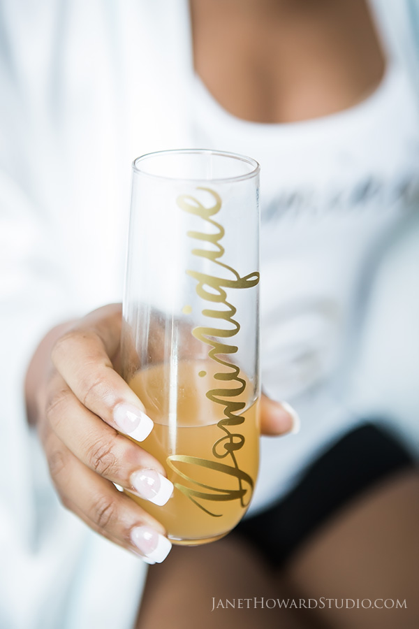 custom glasses for bridesmaids