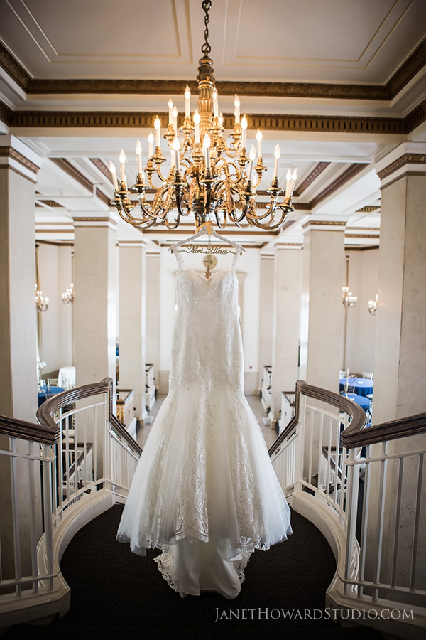wedding dress at the Venetian Room